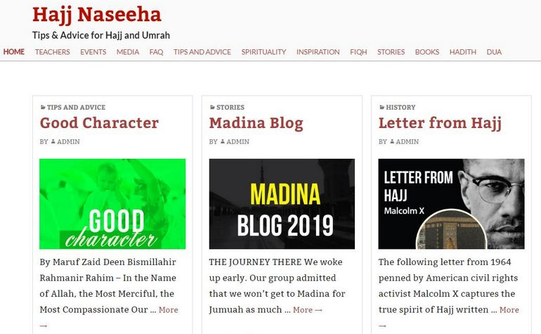 HajjNaseeha website