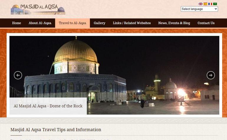 Visit Masjid al-Aqsa website