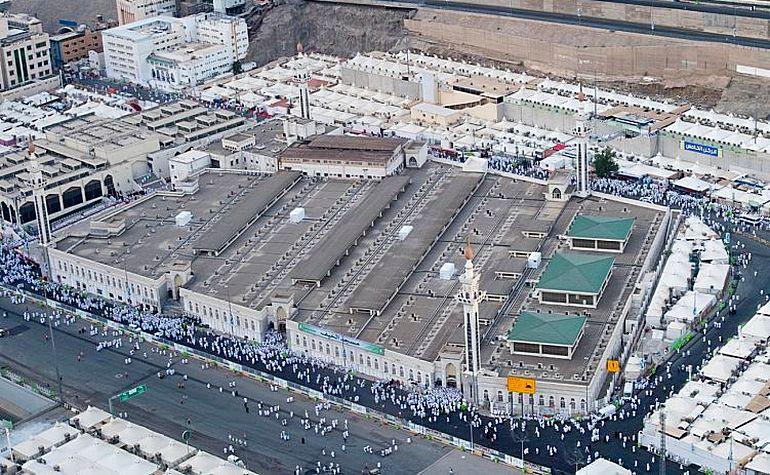 Aerial view of Masjid al-Khayf