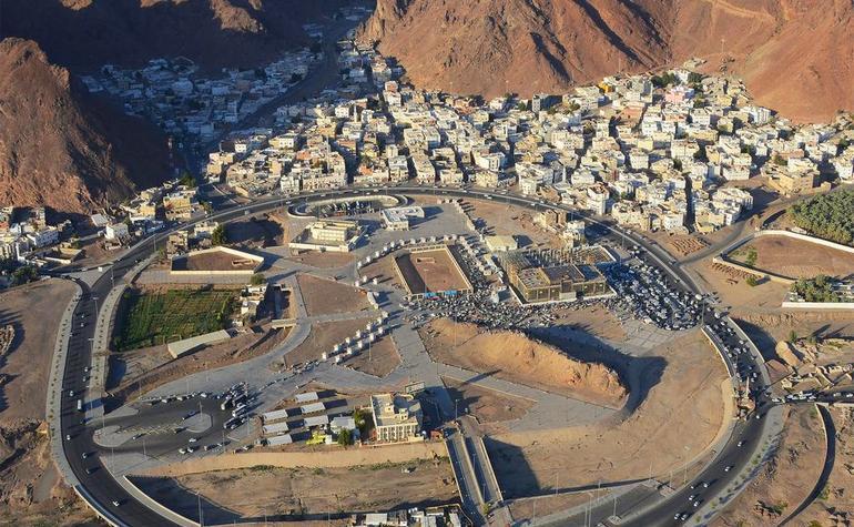 Aerial view of Jabal al-Rumah