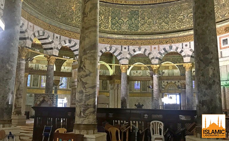12-pillars-in-the-Dome-of-the-Rock