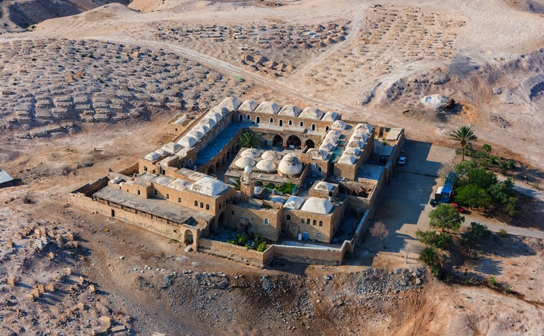 Aerial view of Nabi Musa complex