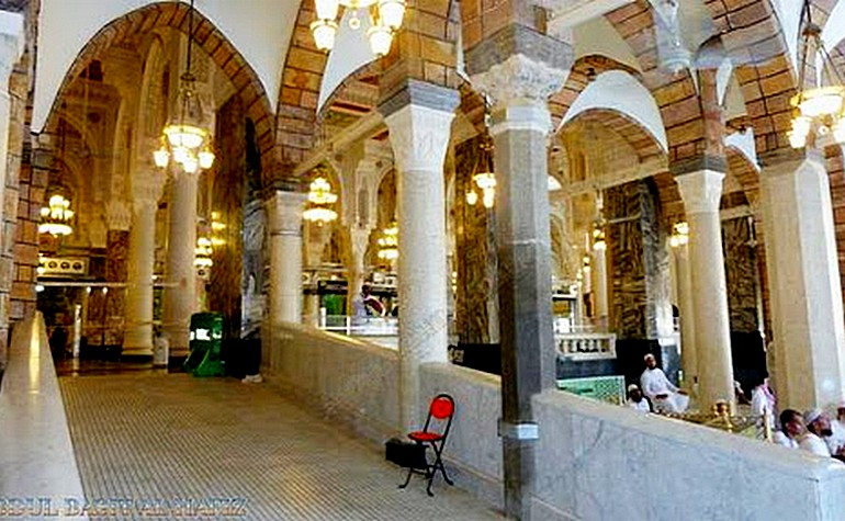 The former pillar which marked theH ouse of Umme Hani (رضي الله عنها)
