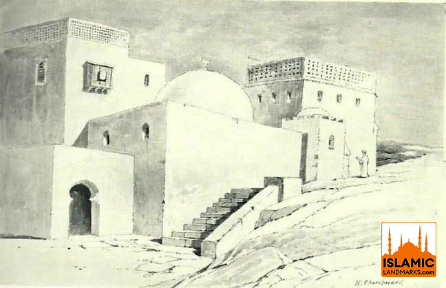 Sketch of the birthplace after it was converted into a mosque