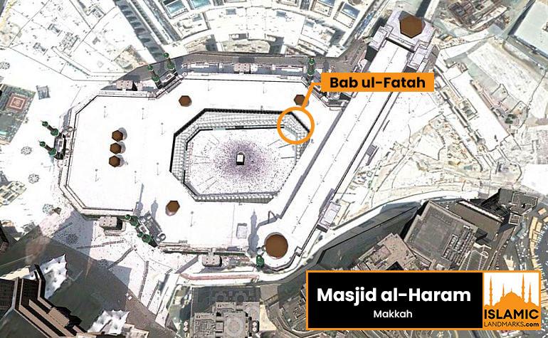 Location of Bab ul-Fatah