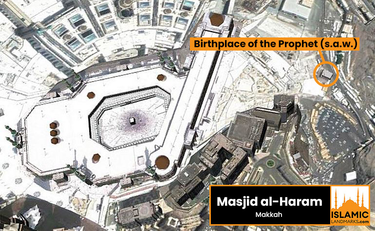 Location of the Birthplace of the Prophet (s.a.w.)