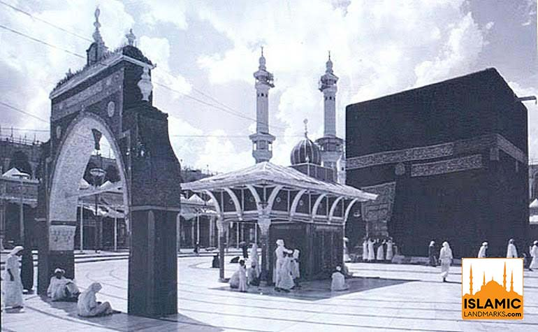 Historic photo of the Bani Shaybah Gate