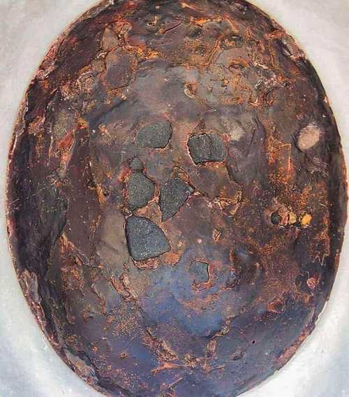 Close-up of the Hajar al-Aswad stones