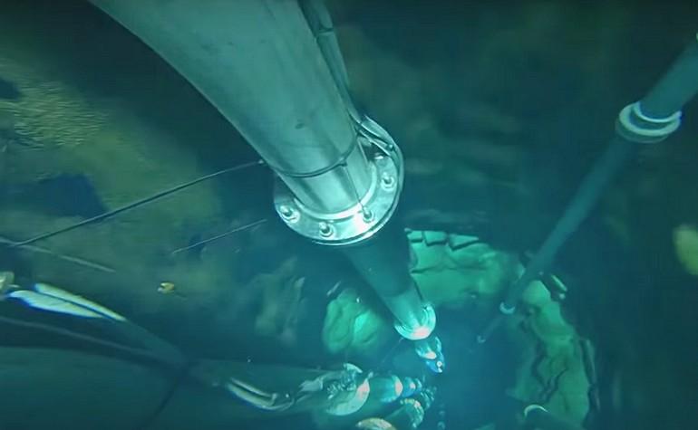 View deep inside the Zamzam Well