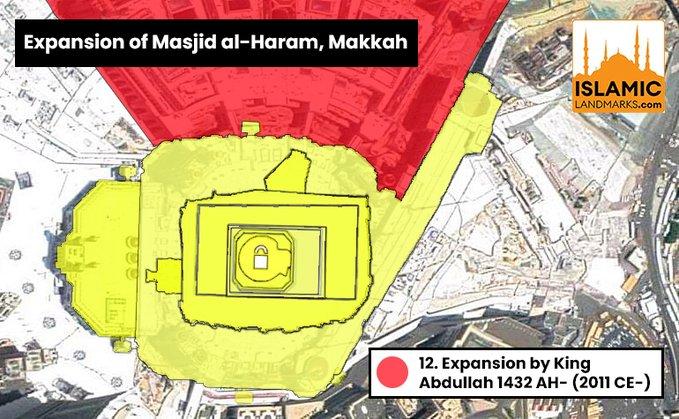 12. Masjid al-Haram expansion by King Abdullah